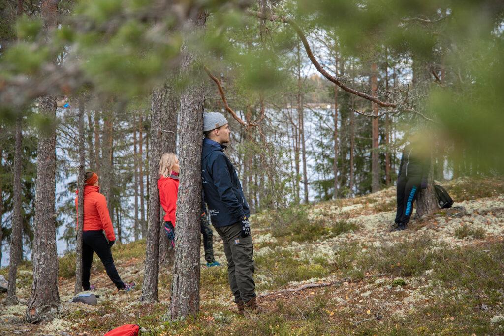 Rentoutuminen metsässä